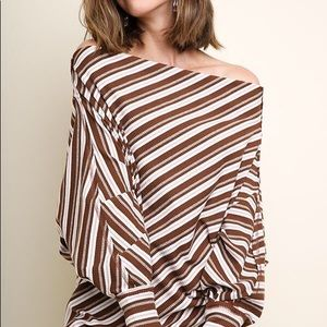 Umgee Tops - OTS Striped Shirt